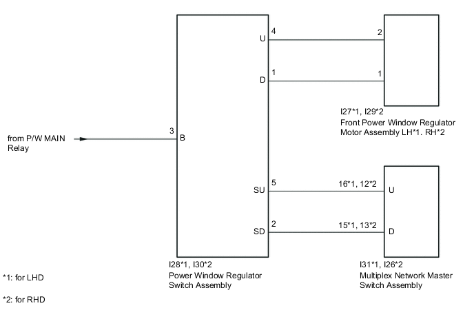 Front Passenger Side Power Window Switch, Wiring Diagram For Power Window Switches